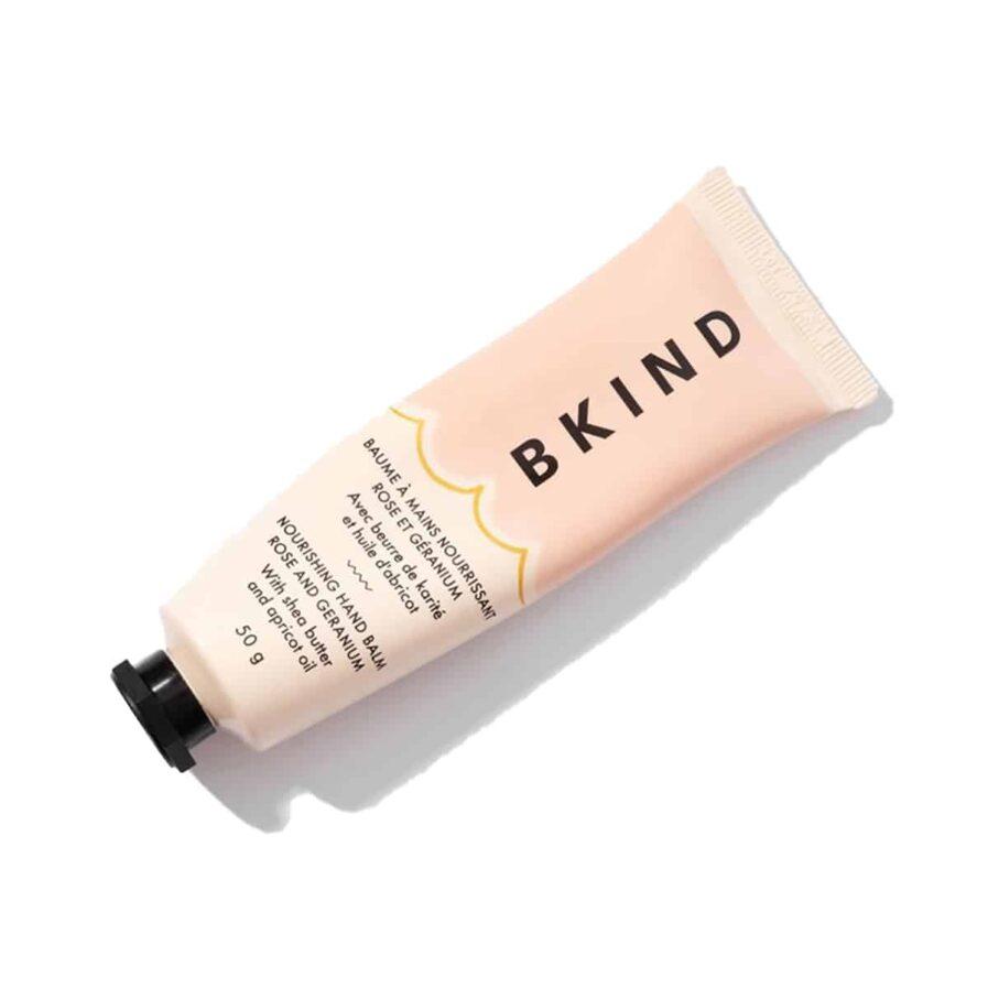 Shop BKIND Hand Balm Rose and Geranium. A lightweight, deeply moisturizing hand treatment.