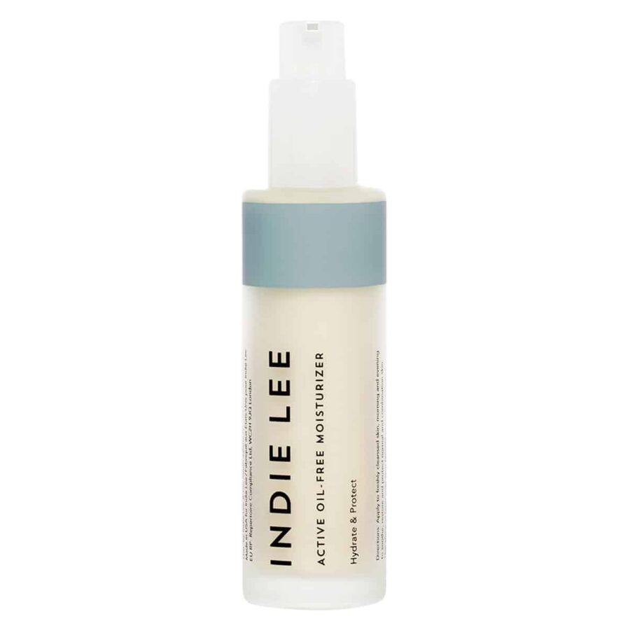 Indie Lee Active Oil-Free Moisturizer is a lightweight, skin-perfecting lotion for oily and combination skin types