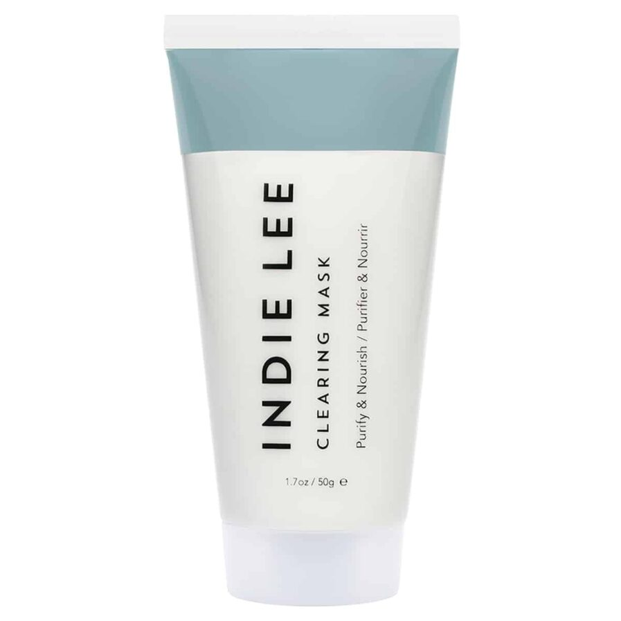 Indie Lee Clearing Mask is a gentle clay mask that exfoliates and nourishes the skin revealing brighter, clearer skin.