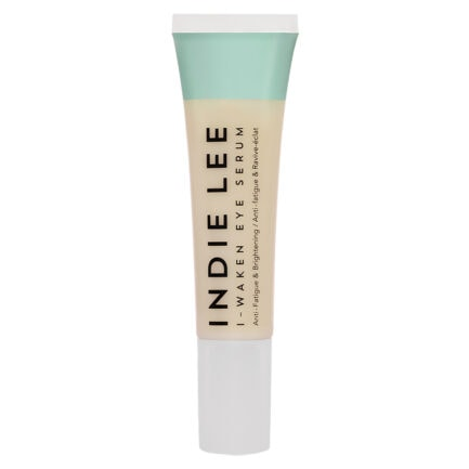 Indie Lee I-Waken Eye Serum brightens and firms as it address puffy under eyes, dark circles and skin texture.