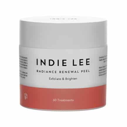 Indie Lee Radiance Renewal Peel pads are exfoliating pads saturated with vitamin c, AHAs, beta carotene to reveal brighter, smoother skin.