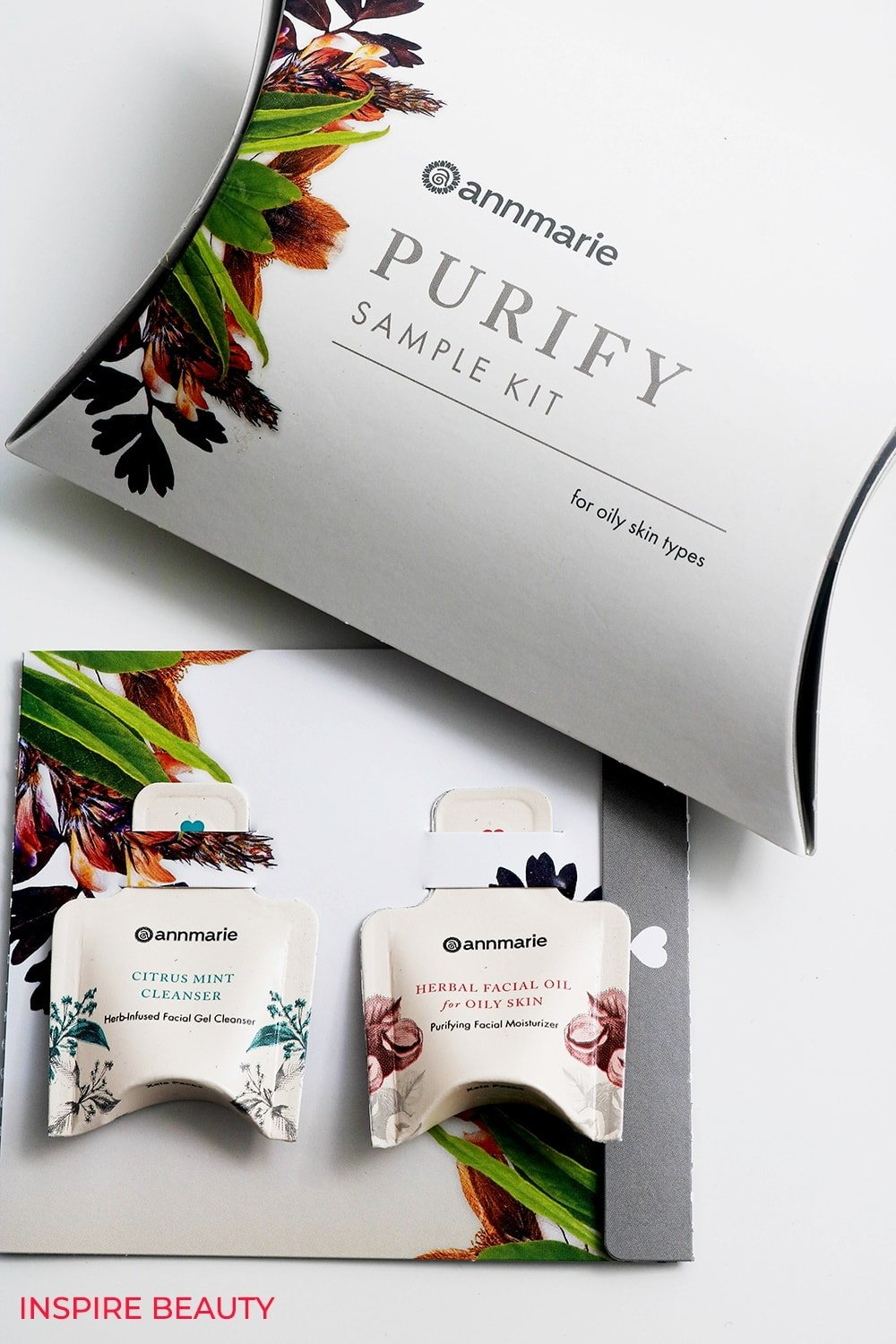 Annmarie Skin Care Purify Sample Kit review of Citrus Mint Cleanser and Herbal Facial Oil for Oily Skin that balance, clarify and help keep skin clear.
