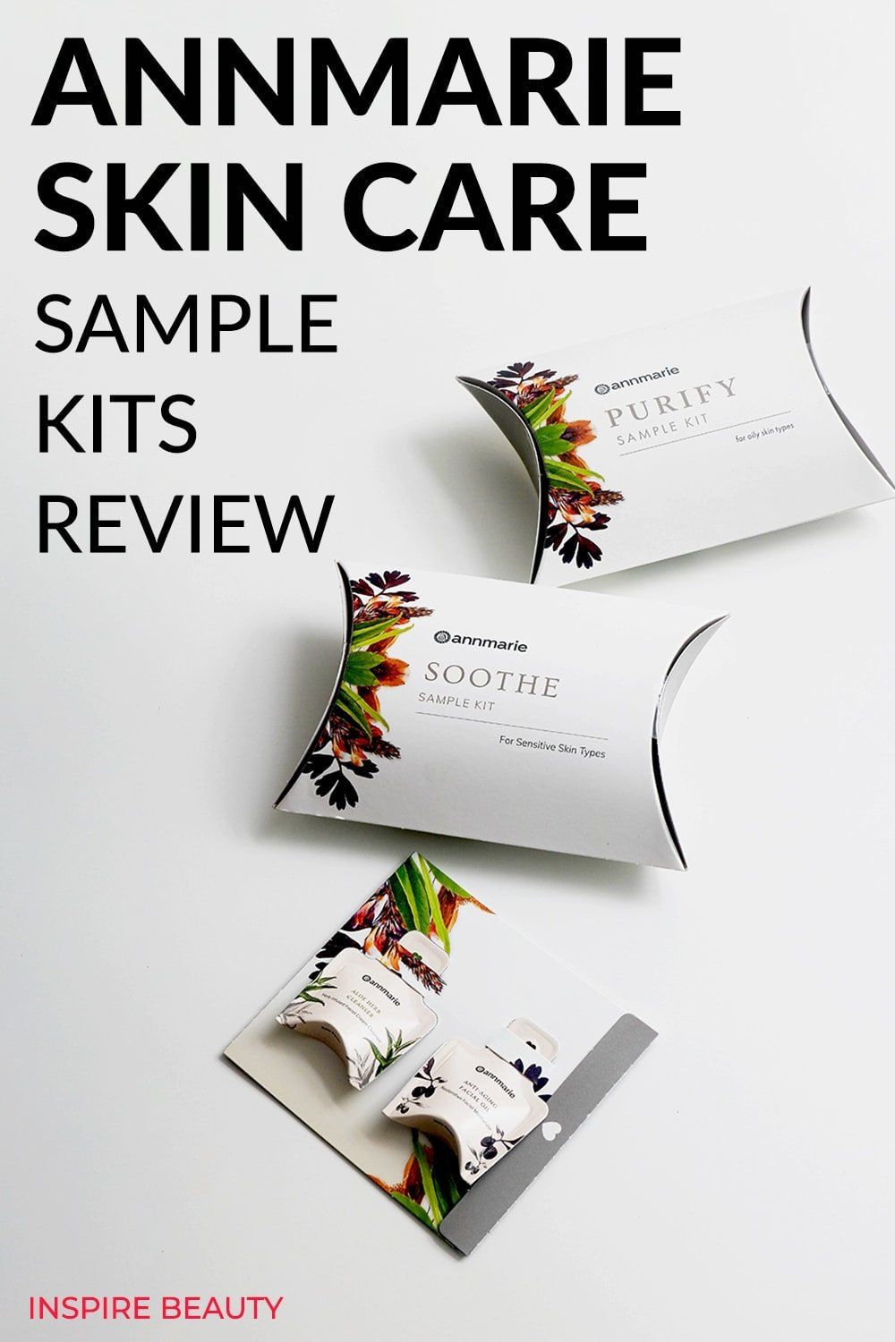 Annmarie Skin Care Sample Kits reviews of Purify, Balance, Soothe and Restore Sample Kits