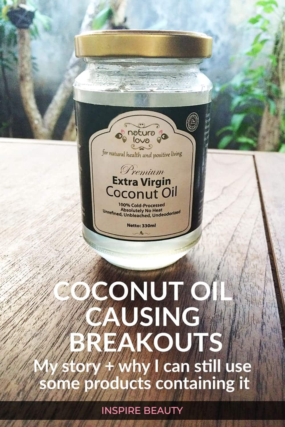 coconut oil causing clogged pores and bumpy skin texture, my story.