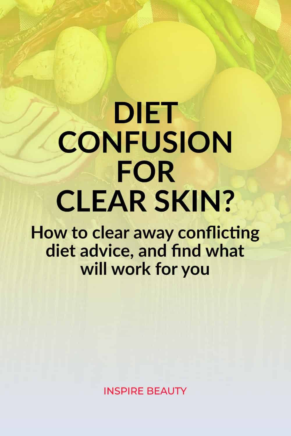 How to clear away confusing and conflicting diet advice to clear up acne and breakouts.