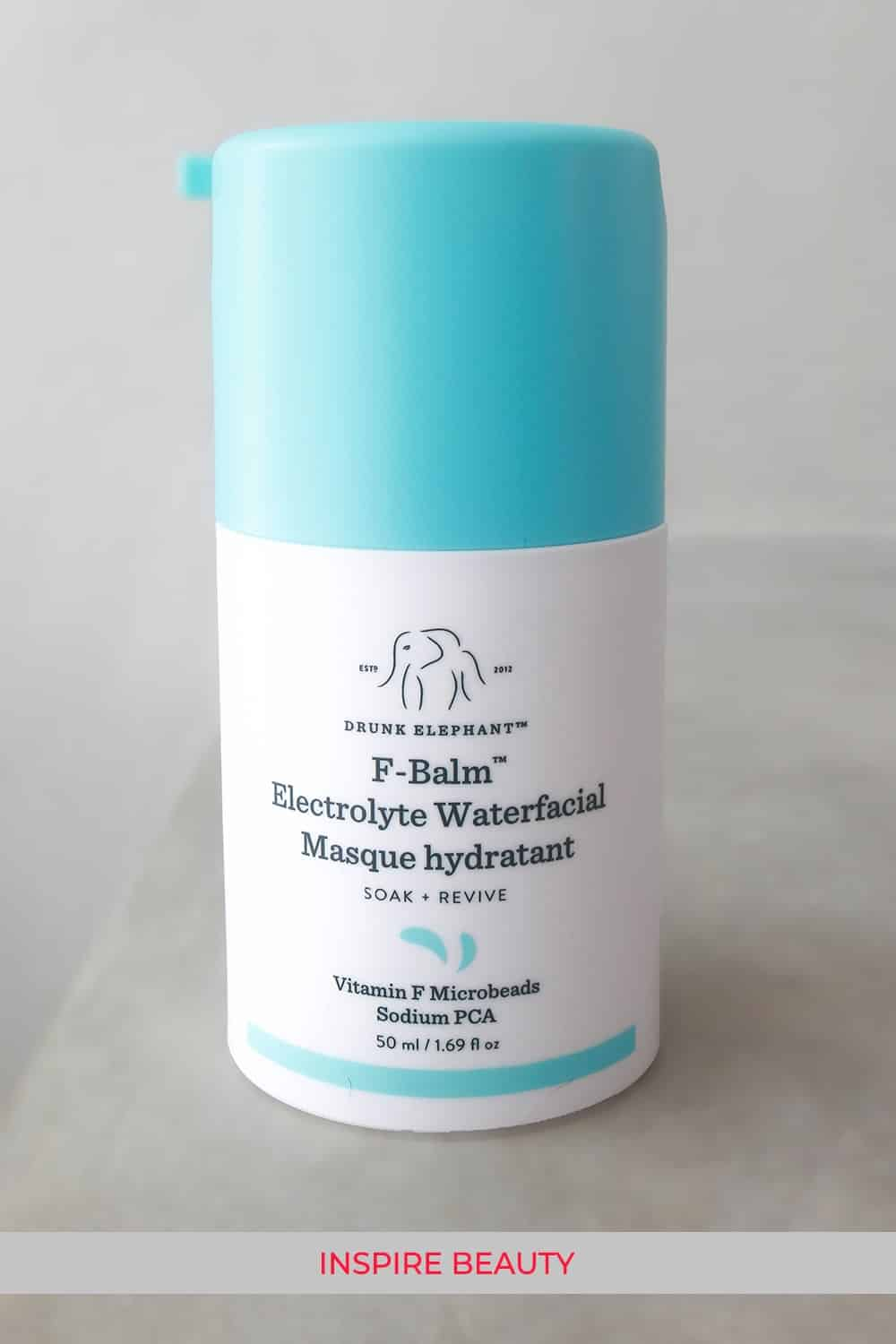 Drunk Elephant F-Balm Electrolyte Waterfacial review, this is gentle, hydrating, and works great with the TLC Framboos Night Serum