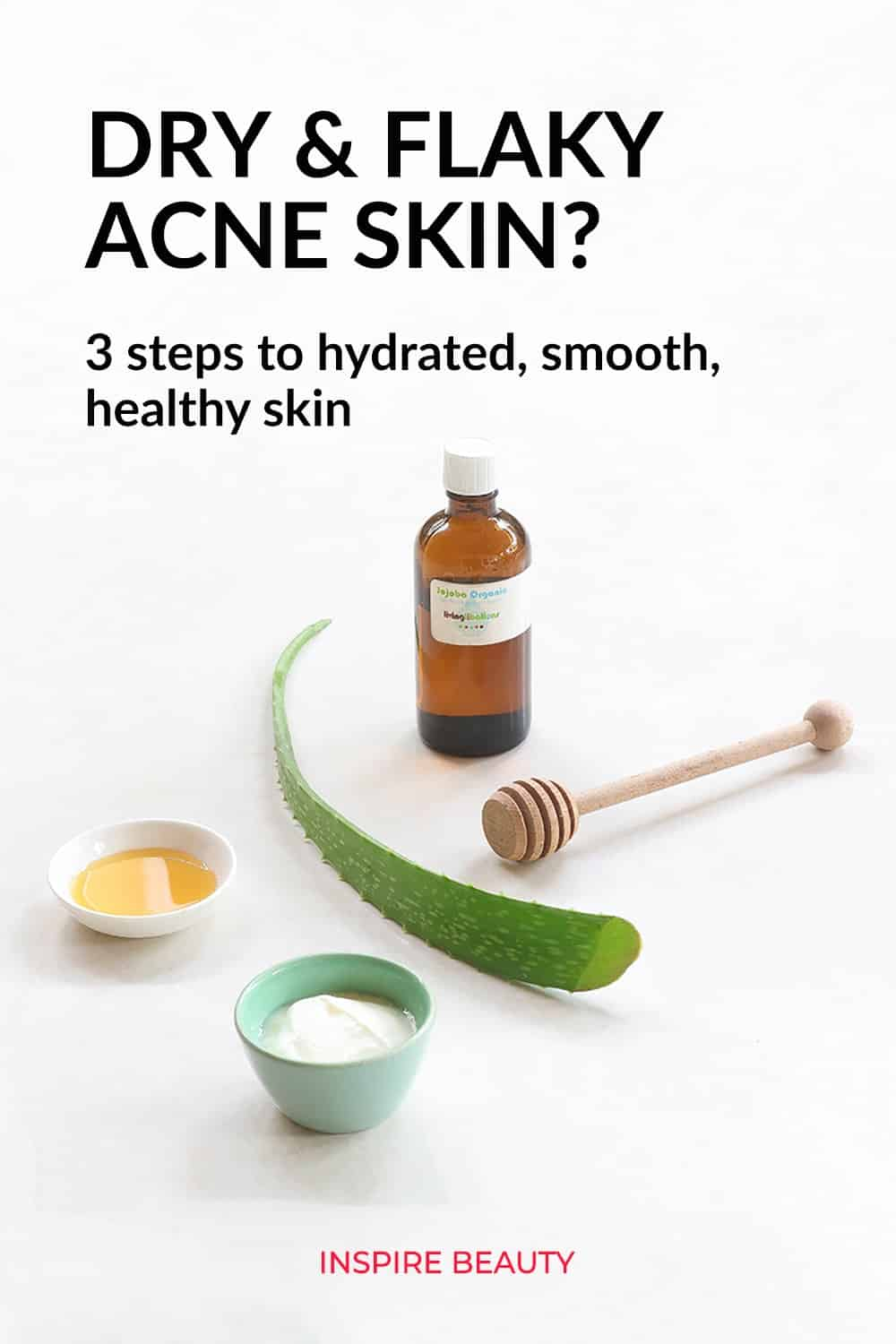 Skin care tips for dry flaky acne prone skin.