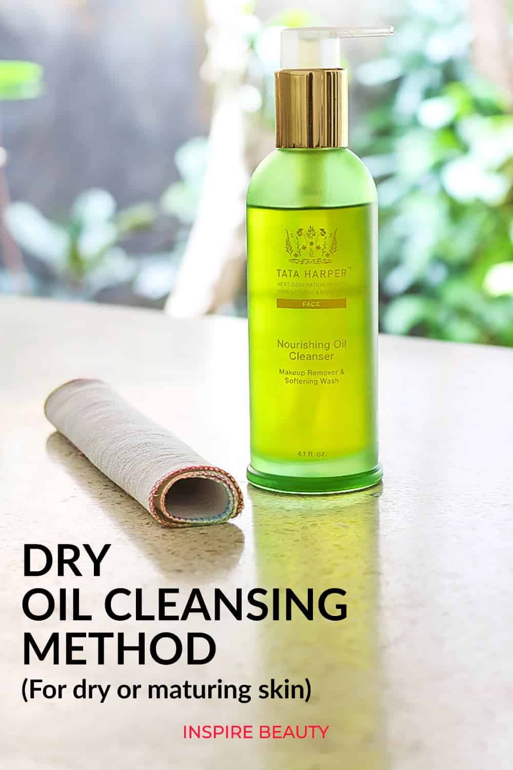 How to do dry oil cleansing method for dry, sensitive, maturing skin.