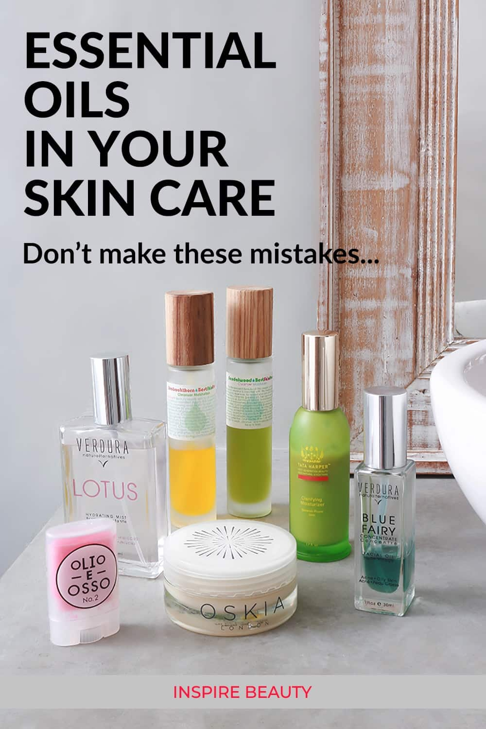 How to safely use skincare products that contain essential oils so you get the benefits and not skin sensitivity or a bad reaction.
