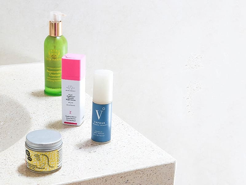Follow up review of last years favorite clean beauty products featuring Tata Harper, Living Libations, Drunk Elephant, Meow Meow Tweet, Vapour Organic Beauty.