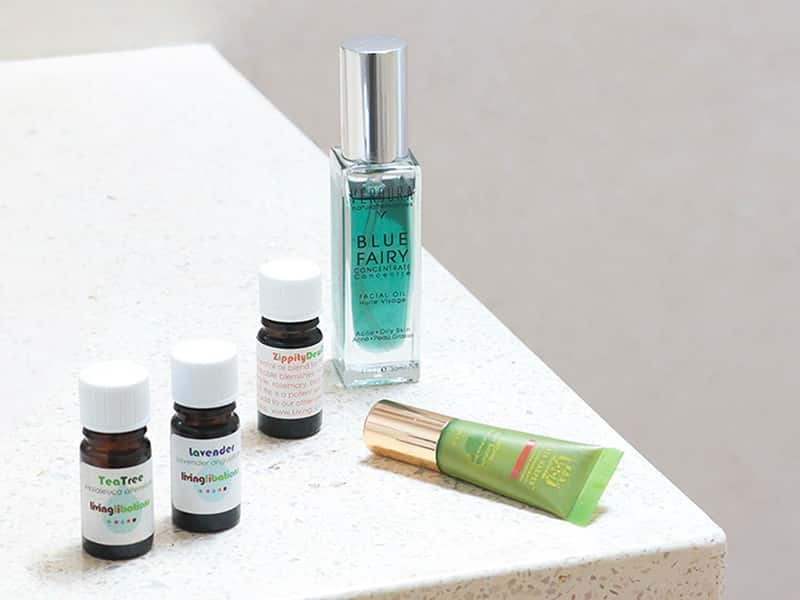 How to stop picking pimples featuring spot treatments from Living Libations, Tata Harper, VERDURA naturalternatives.