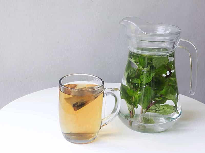 Drinking spearmint tea and infused mint water can clear up cystic and hormonal acne