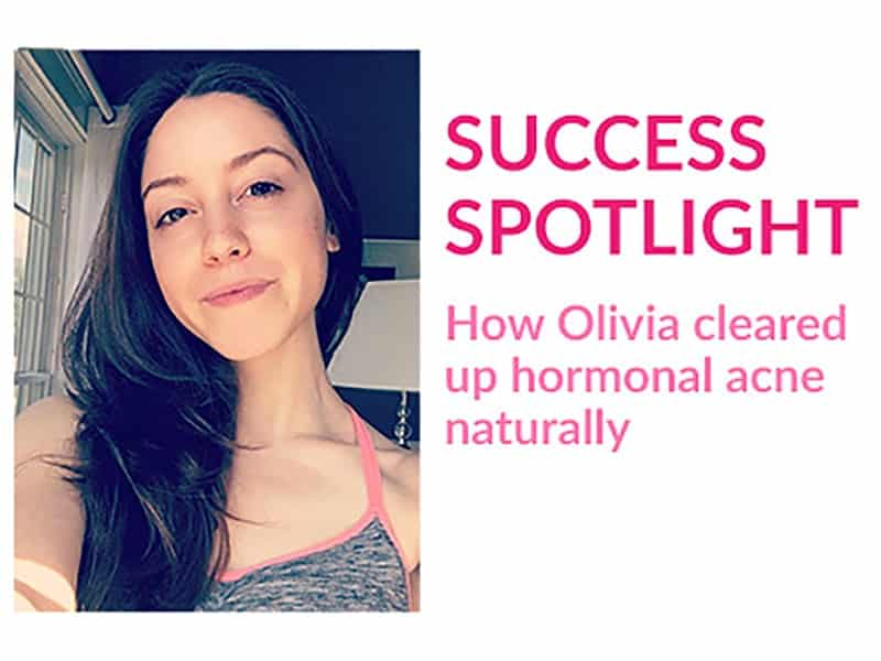 How Olivia Dufour cleared up cystic acne naturally through her diet, skincare, and hair care routine.