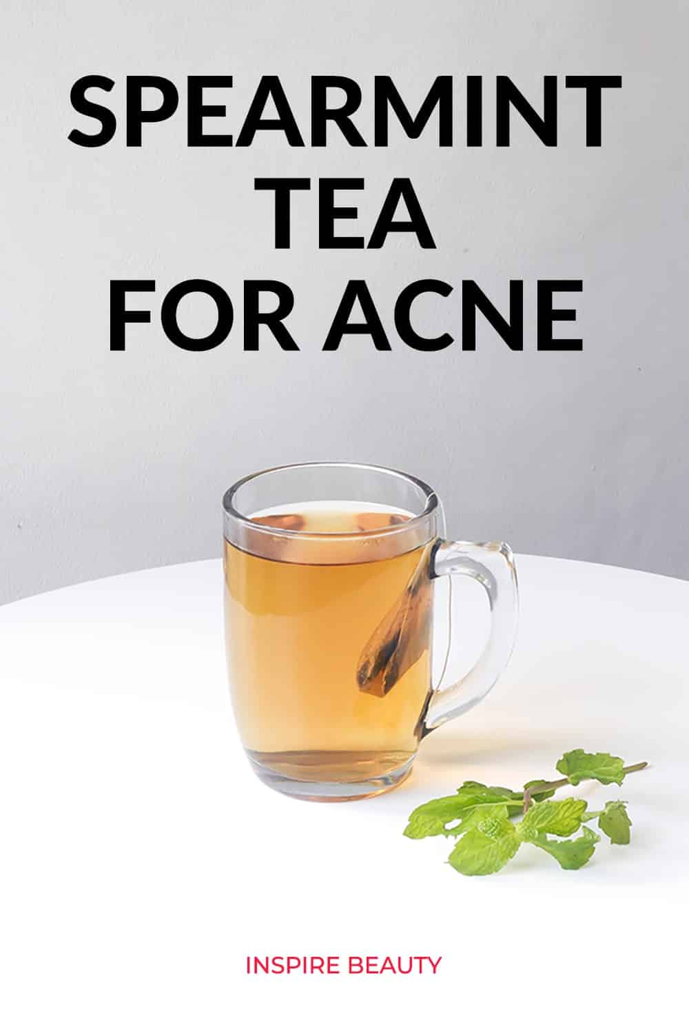 Studies show drinking spearmint tea has an anti-androgen effect helping to balance hormones in women with PCOS, can also help hirsutism and acne