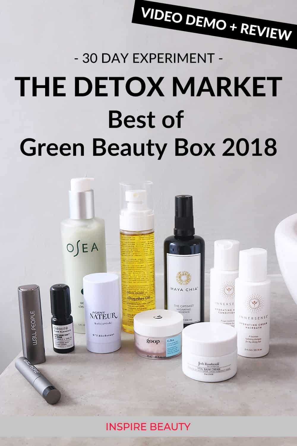 Review of The Detox Market Best Of Green Beauty Box 2018, clean beauty, organic skincare, natural beauty products