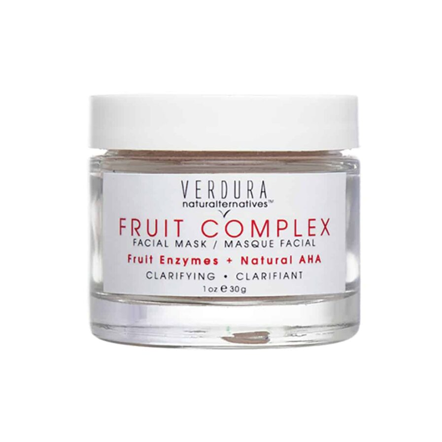VERDURA naturalternatives Fruit Complex Facial Mask is a gentle exfoliating mask containing natural AHAs and fruit enzymes to dissolve surface buildup resulting in smooth, bright skin.