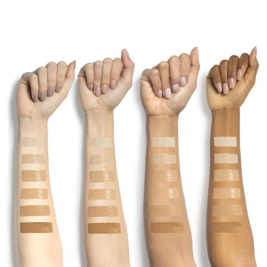 Swatches of all 6 shades Suntegrity Impeccable Skin