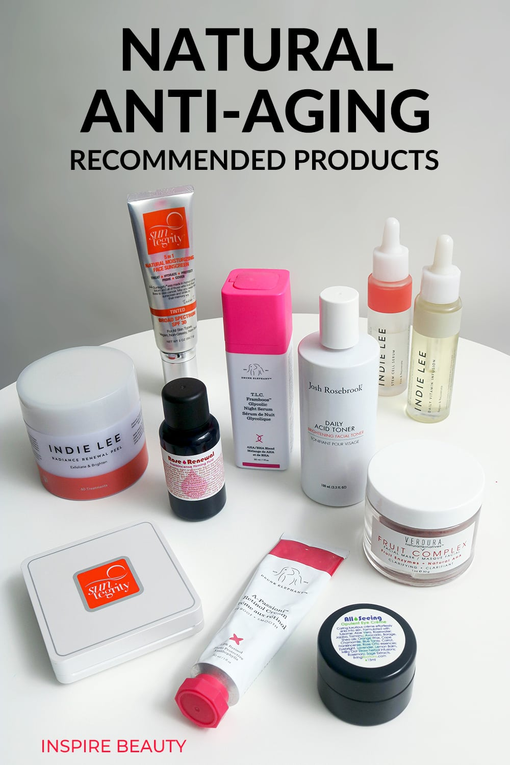 Recommended skin care products for natural anti-aging in your 40s