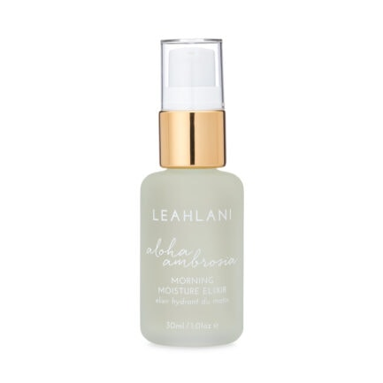 Leahlani Aloha Ambrosia Morning Moisture Elixir delivers lightweight moisture for silky soft glowing skin.
