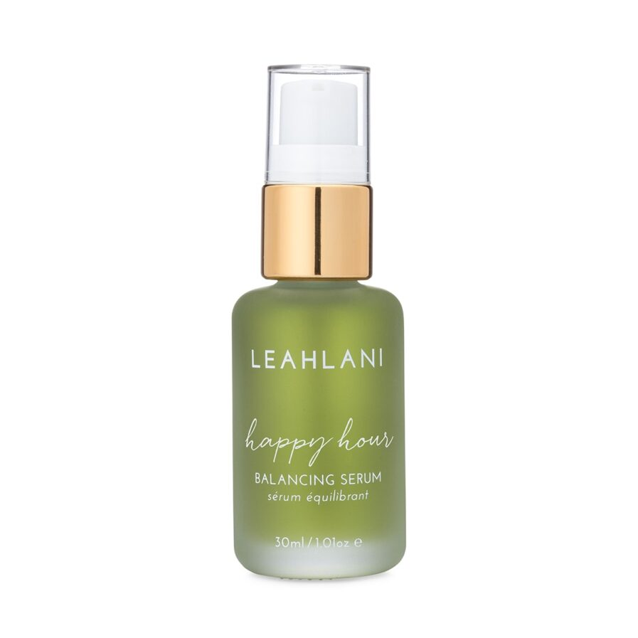Leahlani Happy Hour Balancing Serum soothes and calms red, irritated, sensitive skin.