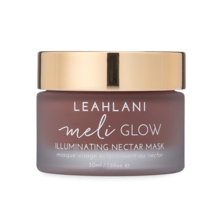 Leahlani Meli Glow Mask gently exfoliates as it nourishes the skin revealing bright, glowing, supple skin.