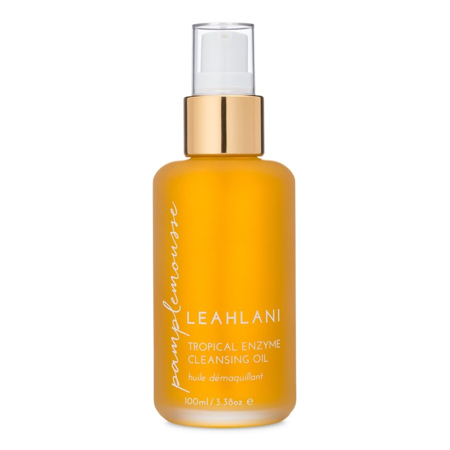 Leahlani Pamplemousse Tropical Enzyme Cleansing Oil is a lightweight, versatile oil cleanser for removing makeup and impurities and brightens the skin.