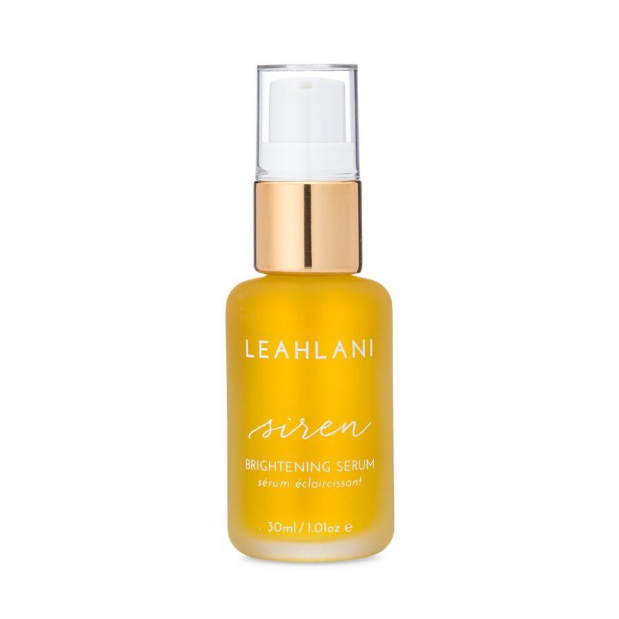 Leahlani Siren Serum is a lightweight brightening serum that balances and refreshes the skin.