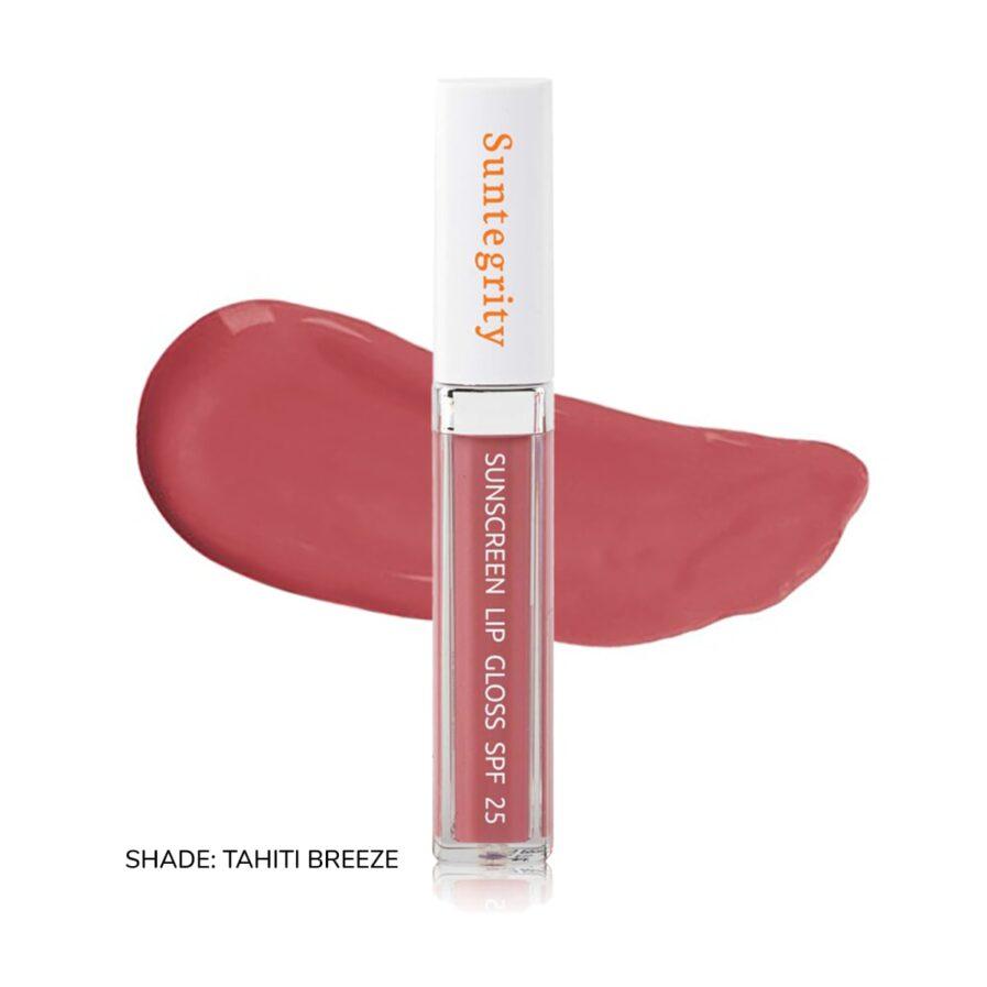 Suntegrity Sunscreen Lip Gloss swatch of shade Tahiti Breeze