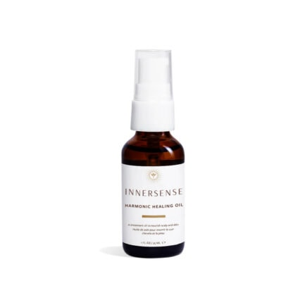 Innersense Harmonic Healing Oil is a nourishing treatment oil to soothe, moisturize and balance the scalp, skin and hair.