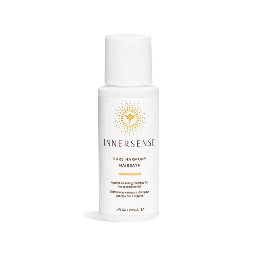 Sample Innersense Pure Harmony Hairbath, a gentle shampoo that adds volume and shine.
