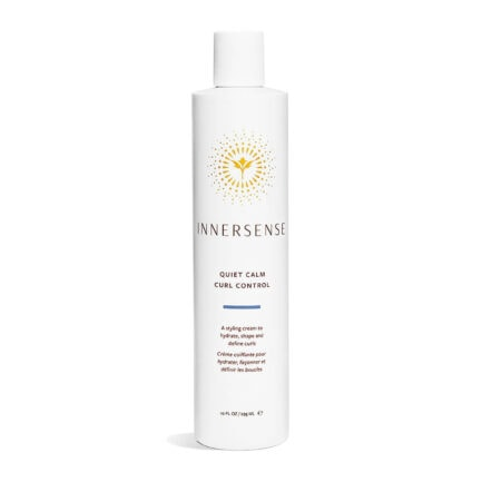 Shop Innersense Quiet Calm Curl Control, a curly hair styling lotion for definition and smoothing frizz and texture.