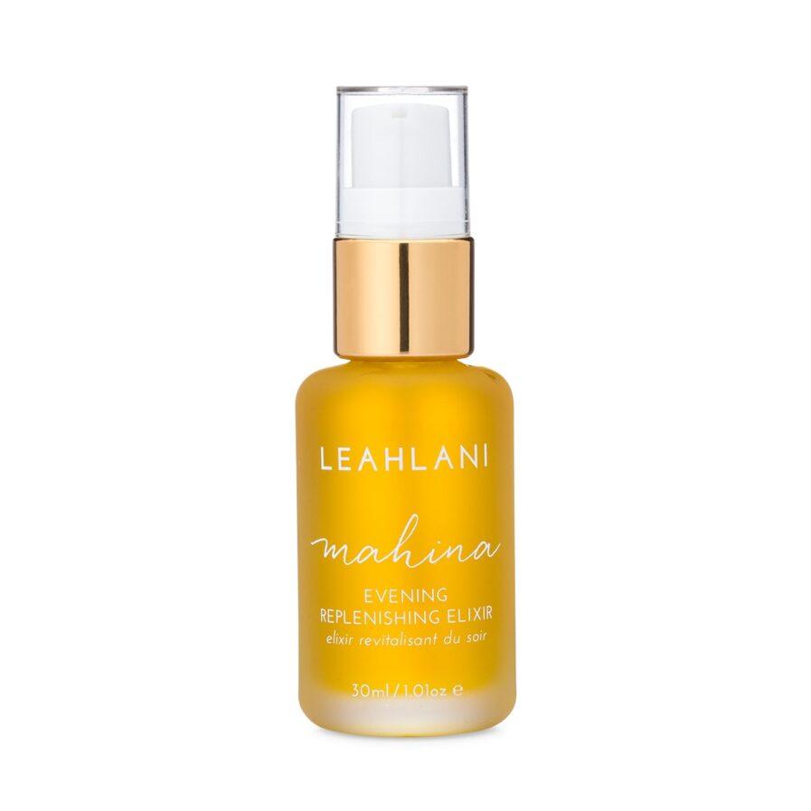 Leahlani Mahina Evening Elixir is a nourishing moisturizer that softens, plumps and rejuvenates skin.