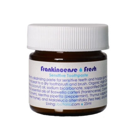 Shop Living Libations Frankincense Fresh Sensitive Toothpaste for sparkling clean teeth and freshest breath.