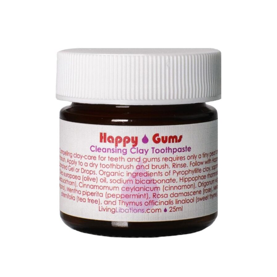Shop Living Libations Happy Gums Clay Toothpaste for ultra clean teeth and fresh breath.