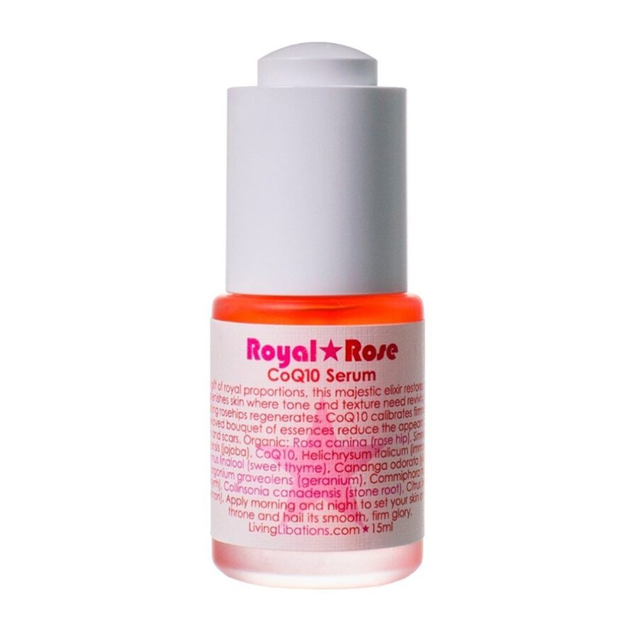 Shop Living Libations Royal Rose CoQ10 Serum to soften lines and wrinkles and rejuvenate skin.
