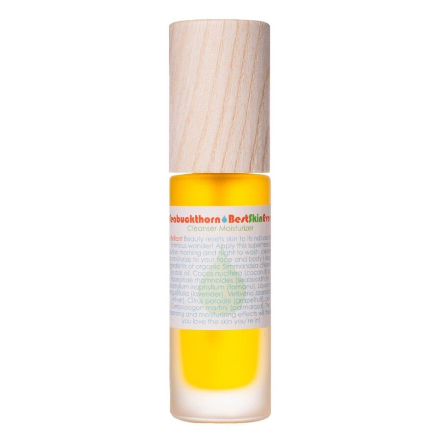 Shop Living Libations Seabuckthorn Best Skin Ever oil cleanser and moisturizer, free shipping on all orders over $99 (Canada & USA)